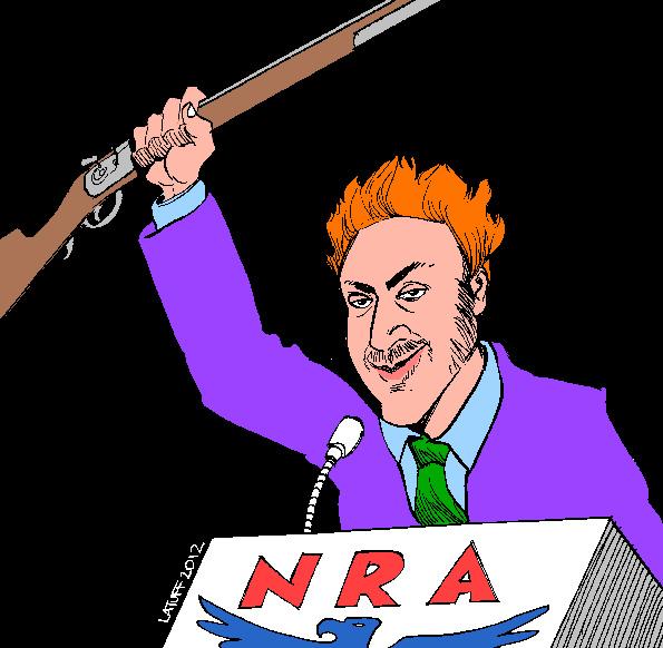 Holmes & NRA (Latuff)